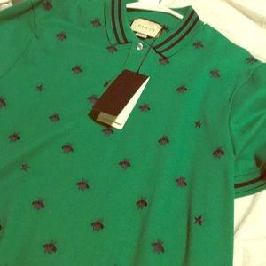 Gucci polo shirt with symbols embroidery for men